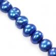 riečne perly 4-5 mm-modré, 10 ks v balení