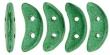 CZECH MATES CRESCENT 10x3mm-5g-Metallic Emerald