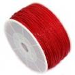 voskovaná niť 1 mm -cena za 1 m-červená
