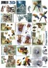 3D obrázky- Mix 9 mini obrázkov zvierat