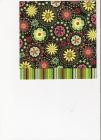Kvetinkové ornamenty a farebné pruhy