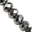 Sklenené rondelky 4.5x6 mm/10 ks v bal/Rhodium
