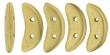 CZECH MATES CRESCENT 10x3mm-5g-Matte metallic flax