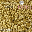 Voskované korálky POHÁNKA 5x3.5mm-matt zlatá