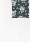 Malé biele ružičky na tmavommodrom podklade