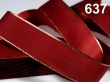 Taftová stuha s lurexom 25 mm- červená