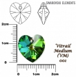 Swarovski heart pendant 6228 cryst. vitrail medium