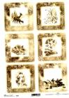 Ryžový papier 210x297mm- Vianoce v sépii