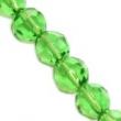 české brúsené korálky 6mm 10 ks v balení-zelené