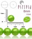 voskované perličky 8mm- 10 ks v bal-pastel zelené