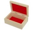 Drevená krabička so semišovou výplňou,12.5x9 cm