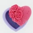 Silikón forma na mydlo a sviečky - srdce s ružami