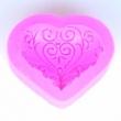 Silikón forma na mydlo a sviečky-Srdce s ornamento