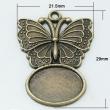 Lôžko na živicu/Motýľ 29x22mm/staromosadz