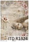 Ryžový papier 210x297mm- Retro francúzke dievča