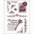 silikónové pečiatky-poštová známka a ornamenty