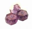 Brúsené korálky 3x6 mm/20 ks/ fialový pokov