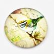 KABOŠON sklenený 25 mm- Vtáčik