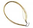 Šnúrka na prívesok zo 6 šnúrok 45 cm-zlatá