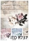 Ryžový papier 210x297mm- Nostalgické ruže