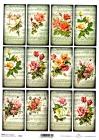 Ryžový papier 210x297mm- Malé obrázky ruží
