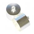 Nalepovacie kaplíky 14x16 mm, strieborné, 2 ks