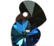 Swarovski HEART 6228 -14x14 mm, bermuda blue