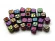 Akrylové kocky 6x6 mm/Smajlíci/farebné/10 ks