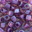 Toho CUBE 3 mm-Rainbow rosaline-opaque purple- 10g