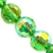 brúsené korálky 12mm AB-5ks v balení-zelené