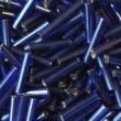 Sklenené paličky 9mm-modré so strieb.prieťahom