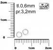 Strieborné AG925 spojovacie krúžky,0,6x3,5mm