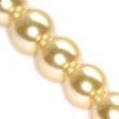 voskované perličky 12mm- 10 ks v balení-krémové