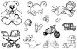 silikónové pečiatky- Detské motívy