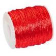 Saténové stuhy 2 mm, cena za 1 m - červená
