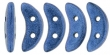 CZECH MATES CRESCENT 10x3mm-5g-Metallic Blue