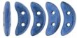 CZECH MATES CRESCENT 10x3mm-5g-Metallic Blue