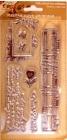 silikónové pečiatky-Ruže a noty
