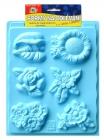 plastová forma -Kvetinky