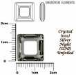 Swarovski SQUARE 4439,14 mm- Silver Night