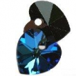 Swarovski heart pendants 6228-bermuda blue