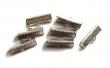 Kovové koncovky na kožu 8x10x6mm/2 ks/platinové