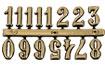 Arabské číslice 9mm-zlaté