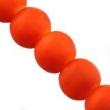 Sklen. korálky s pogumovaným efektom 8mm-oranžové