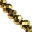 Sklenené rondelky 4.5x6 mm/10 ks v bal/Gold