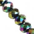 Sklenené rondelky 4.5x6 mm/10 ks v bal/Rainbow