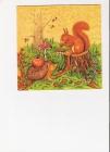 veverička a ježko v lese