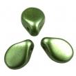 Korálky PIP 7x5 mm/20 ks/olive green