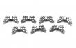 Bižutérne medzikusy KRÍDLA 14x6x3 mm/postriebrené