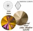 Swarovski Rivoli 14 mm- Lilac Shadow